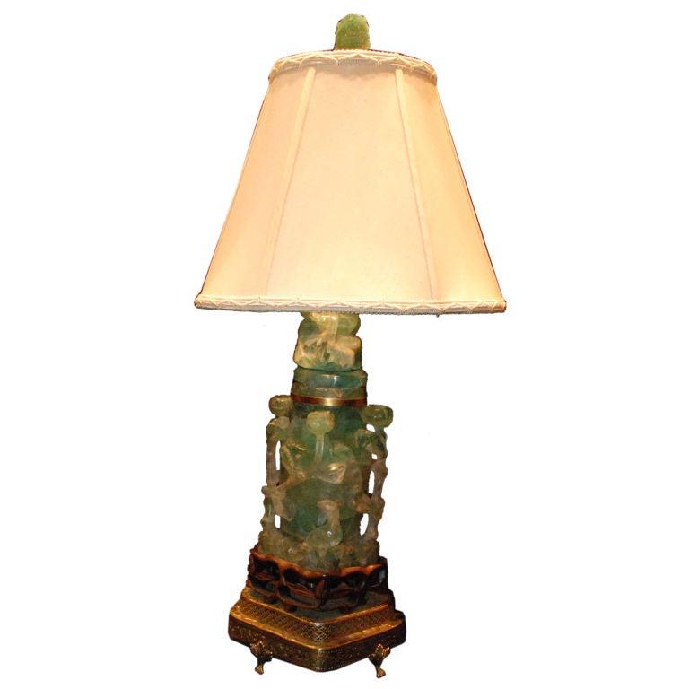 Antique Jadeite Lamp At 1stdibs
