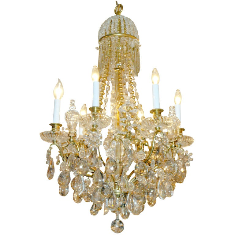Antique Baccarat Chandelier 1 - Antique Baccarat Chandelier At 1stdibs