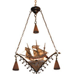 Antique French Tavern Chandelier