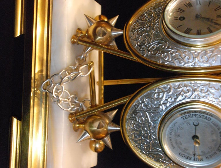 Antique Clock and Barometer For Sale 4