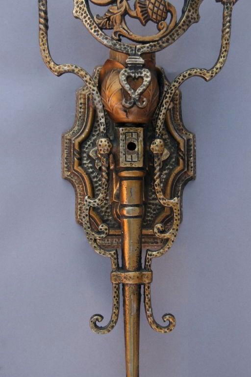 Wall Sconces En Espanol : 1 Large Brass Spanish Revival Sconces at 1stdibs