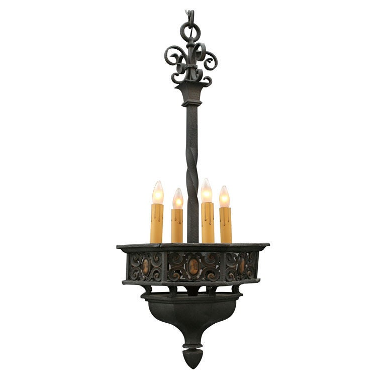 Spanish Revival Iron Chandelier At 1stdibs
