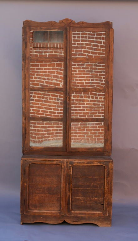 Mexican Step Back Cabinet at 1stdibs