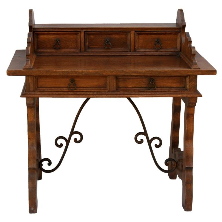 Iron writing desk