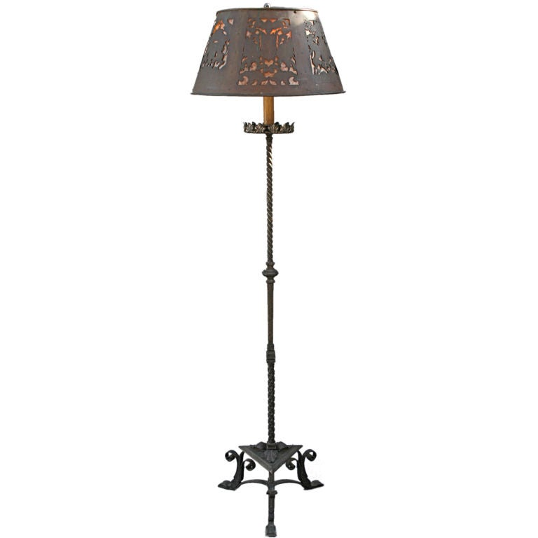 Exceptional 1920 39 s floor lamp w copper and mica shade at for 1920s floor lamps