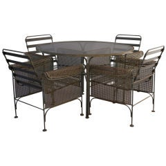 Woodard Patio Table and Four Chair Set