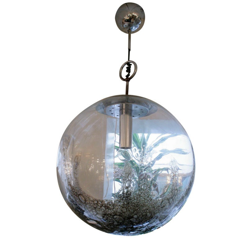 early 60s globe blown glass murano ceiling light at 1stdibs