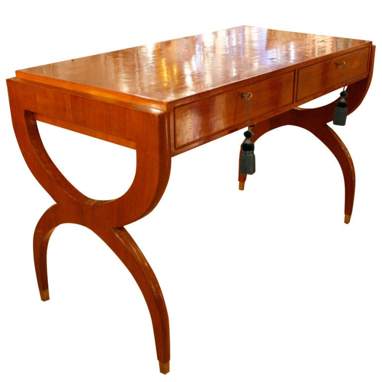 oblong hair styles writing desk console table designed by paolo buffa at 1stdibs 7170