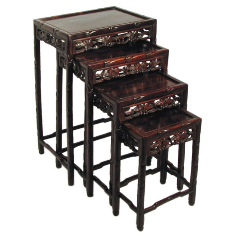 Set 4 Chinese Nesting Tables At 1stdibs