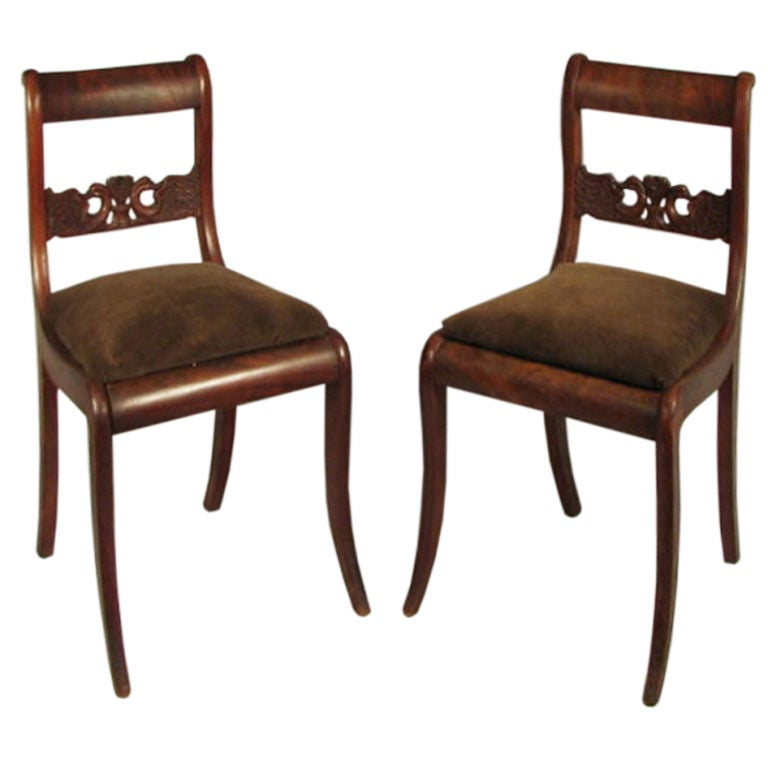 Pair Of Neoclassical Side Chairs At 1stdibs