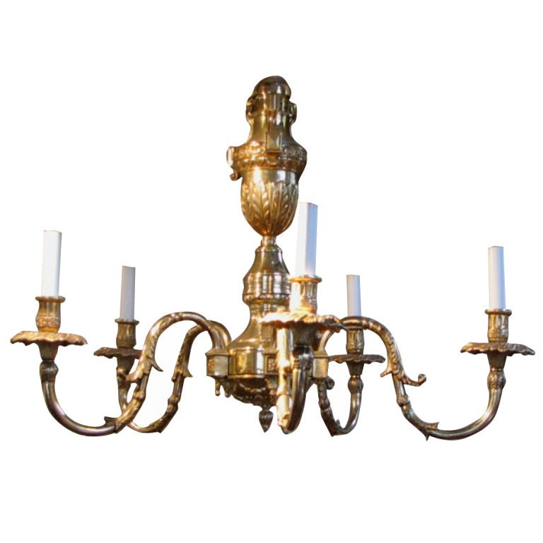 Georgian Chandelier: Georgian Style Brass Chandelier At 1stdibs