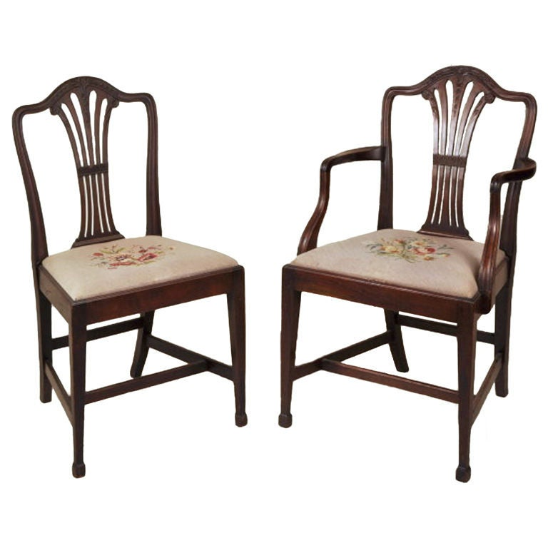 set of 10 georgian style dining chairs at 1stdibs