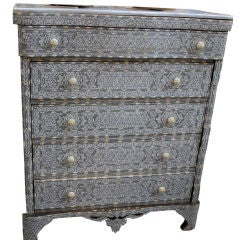 Syrian Inlaid Chest of Drawers Mother of Pearl Inlay thumbnail 1