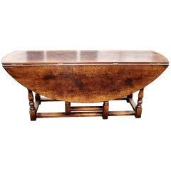 Large George I Style Oak Gateleg Table