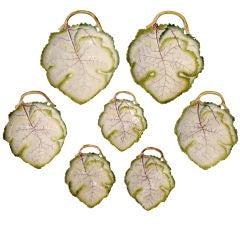 Extensive Collection of 34 Royal Worcester Porcelain Leaf Dishes