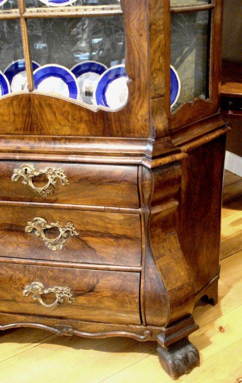 18th Century Dutch Walnut Display Cabinet At 1stdibs