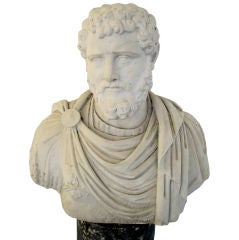 OVER LIFESIZE MARBLE CAESAR BUST