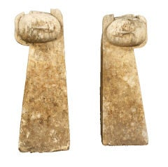 PAIR OF ASIAN SCULPTURES OF ARMS AND HEADS
