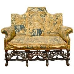 EXTREMELY RARE PERIOD ENGLISH 17TH CENTURY SETTEE
