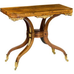 A Regency Rosewood Spider Leg Card Table