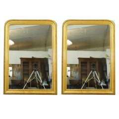French Pair of Gilt Louis Philippe Mirrors
