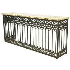 French Cast Iron Balcony Console from Paris