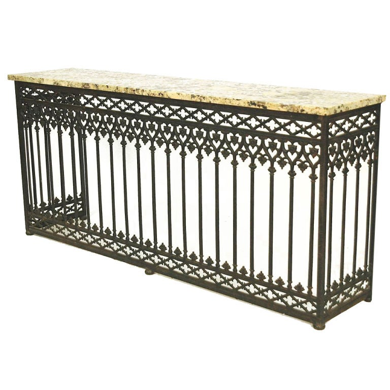 French cast iron balcony console from paris at 1stdibs for Balcony console