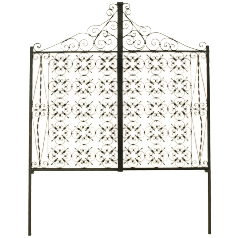 Italian Iron Gate Queen Size Headboard 1