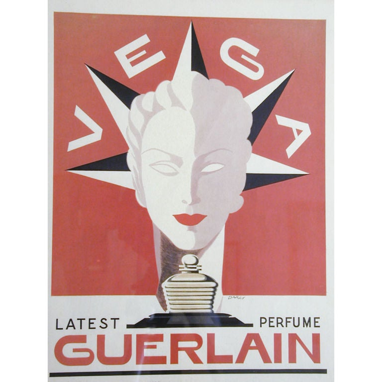 deco poster for guerlain by jacques darcy for sale at 1stdibs