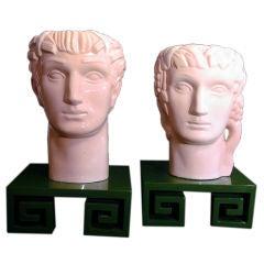 "Rare Art Deco ""Greek Heads"" by Geza de Vegh for Phoenix"