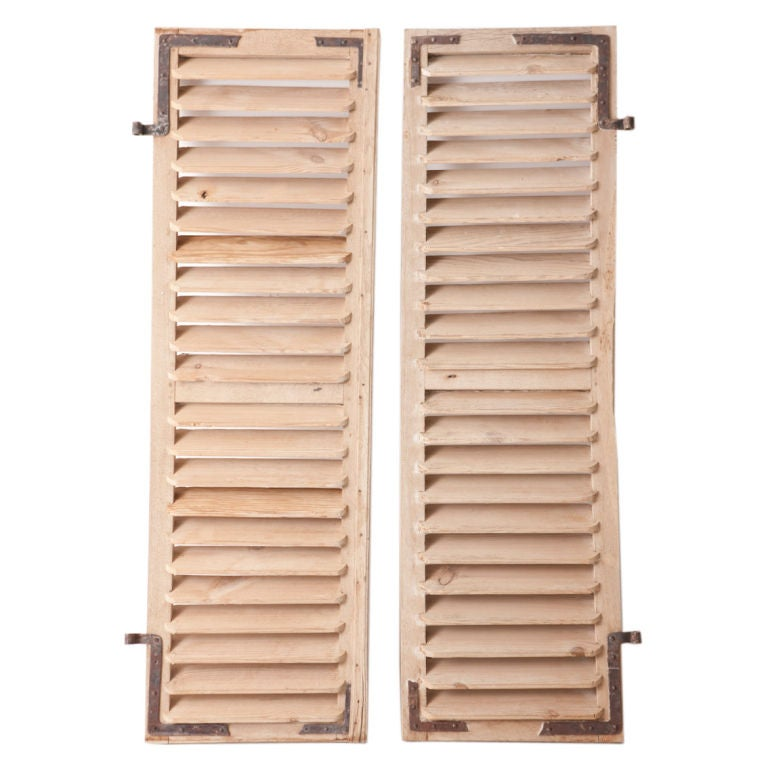 Vintage French Wooden Shutters At 1stdibs