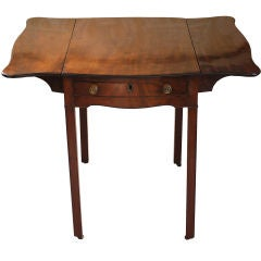George III Mahogany Serpentine Pembroke Table