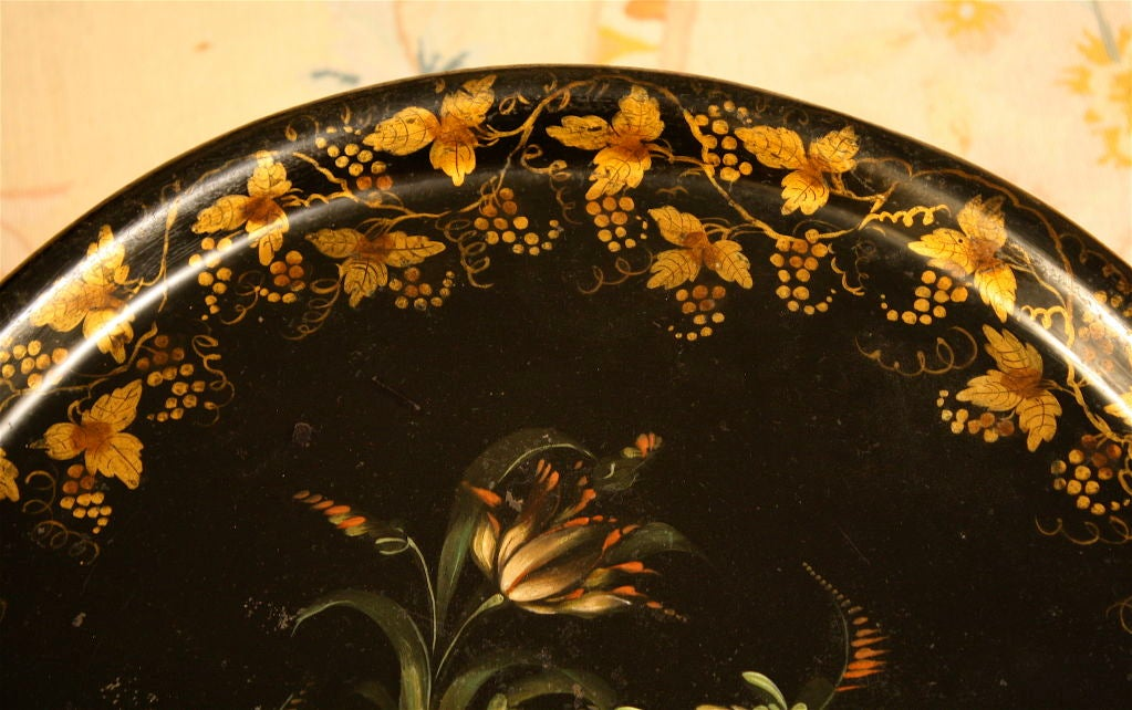 English Regency Tole Tray Table 2