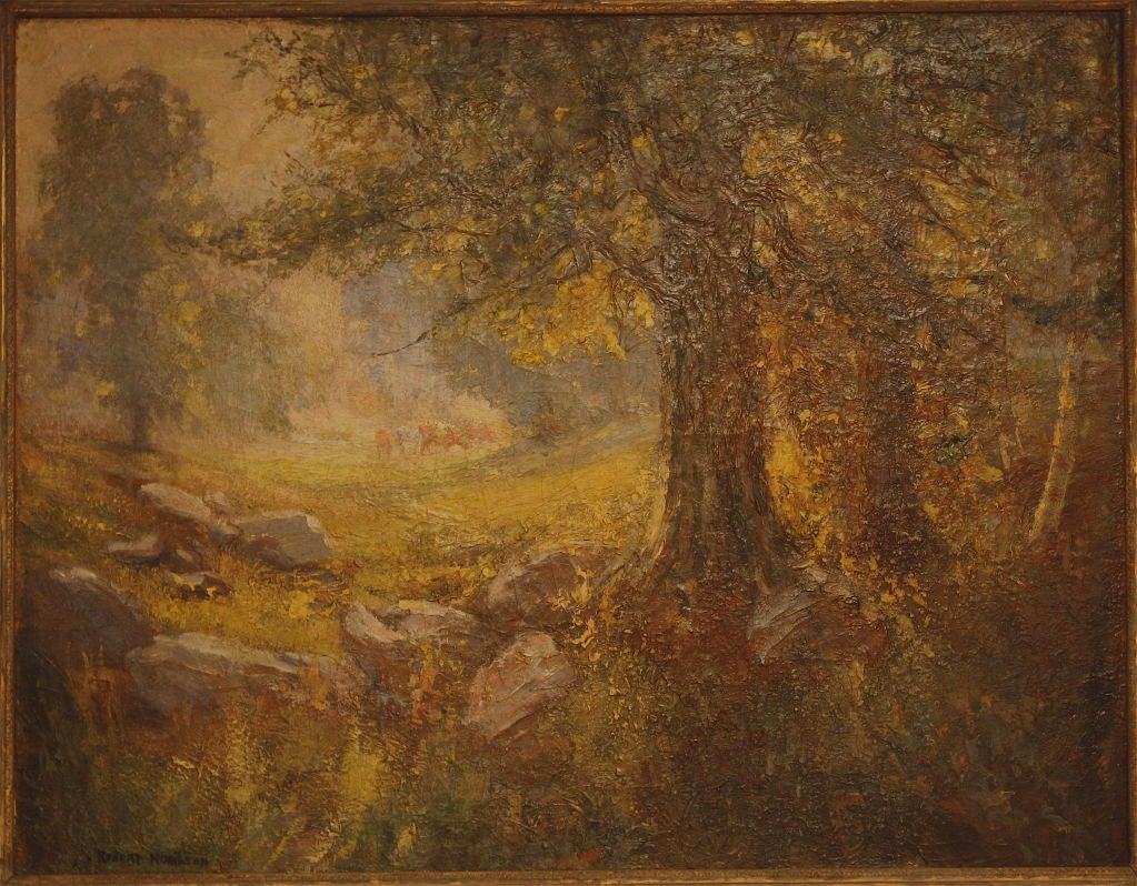 American Impressionist Landscape In Good Condition For Sale In Woodbury, CT