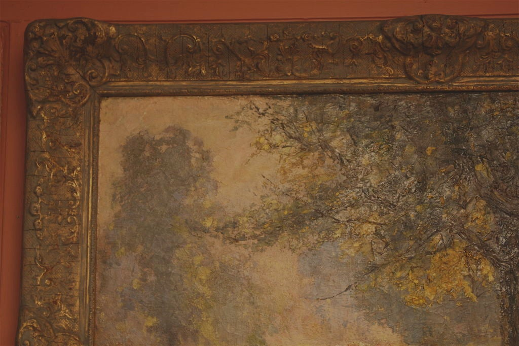 19th Century American Impressionist Landscape For Sale