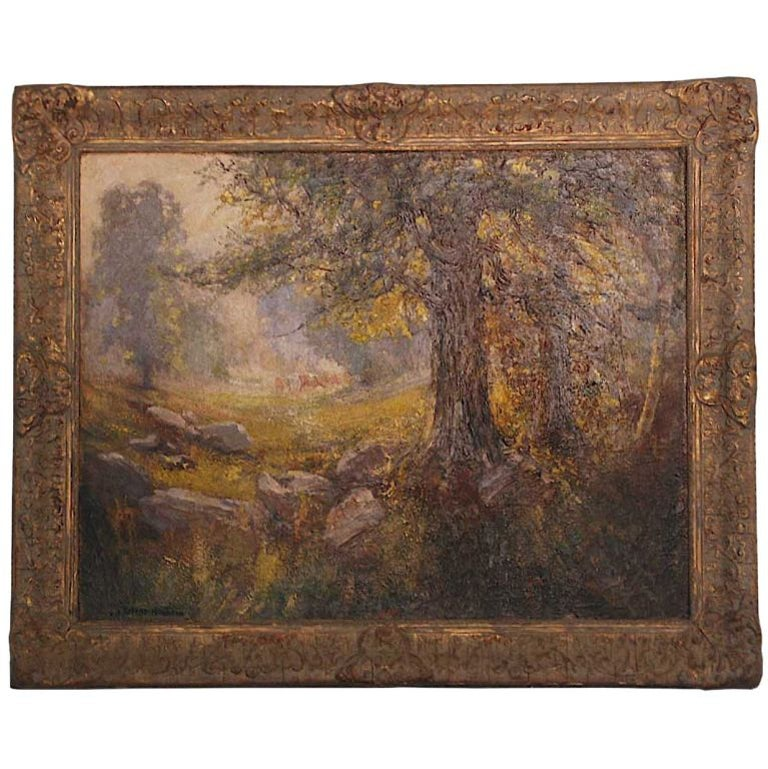 """""""Summer Pasture in the Berkshires"""" by American Impressionist Robert Hamilton For Sale"""