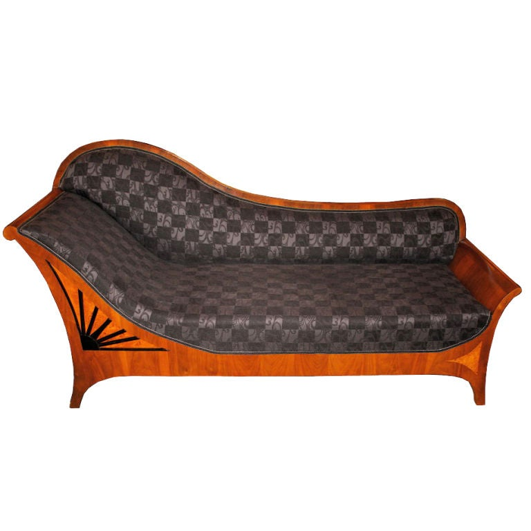 Biedermeier style recamier at 1stdibs for Biedermeier chaise