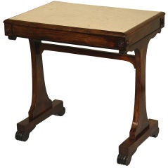William IV Rosewood and Marble Mixing Table