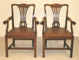 PAIR Chippendale Revival Armchairs thumbnail 2