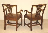 PAIR Chippendale Revival Armchairs thumbnail 4