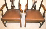 PAIR Chippendale Revival Armchairs thumbnail 9