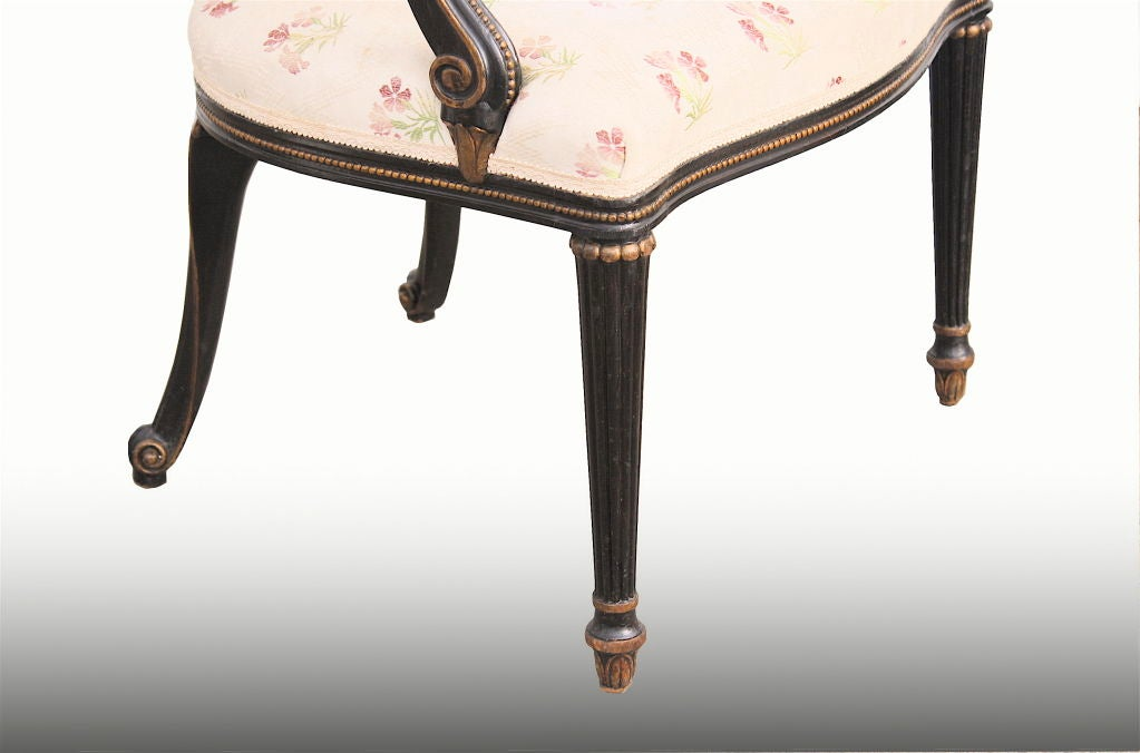 pair chippendale manner open arm fauteuils at 1stdibs. Black Bedroom Furniture Sets. Home Design Ideas