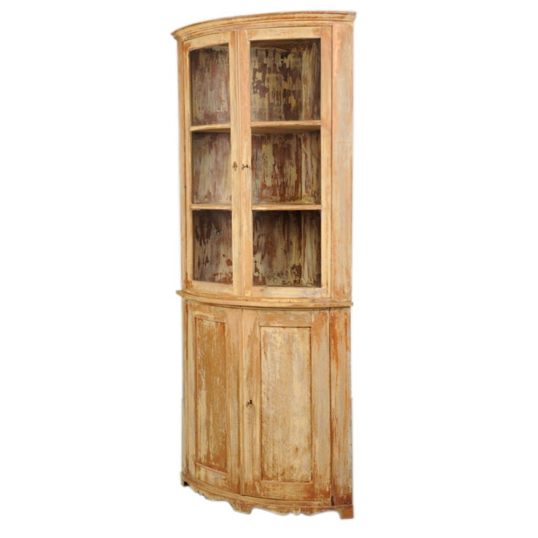 empire period painted corner cabinet from france c