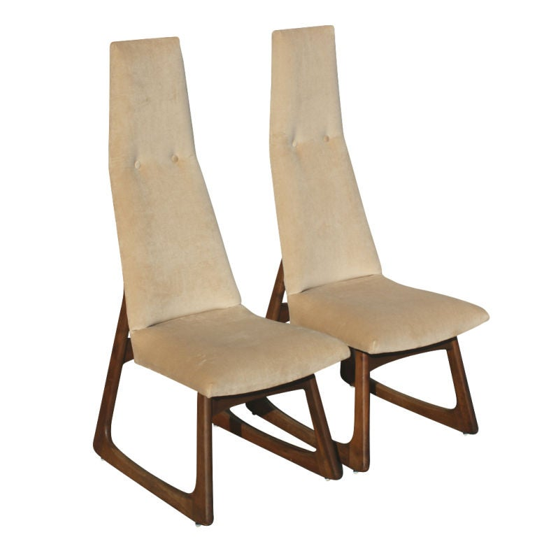 Pair of Adrian Pearsall for Craft Associates High Back Chairs