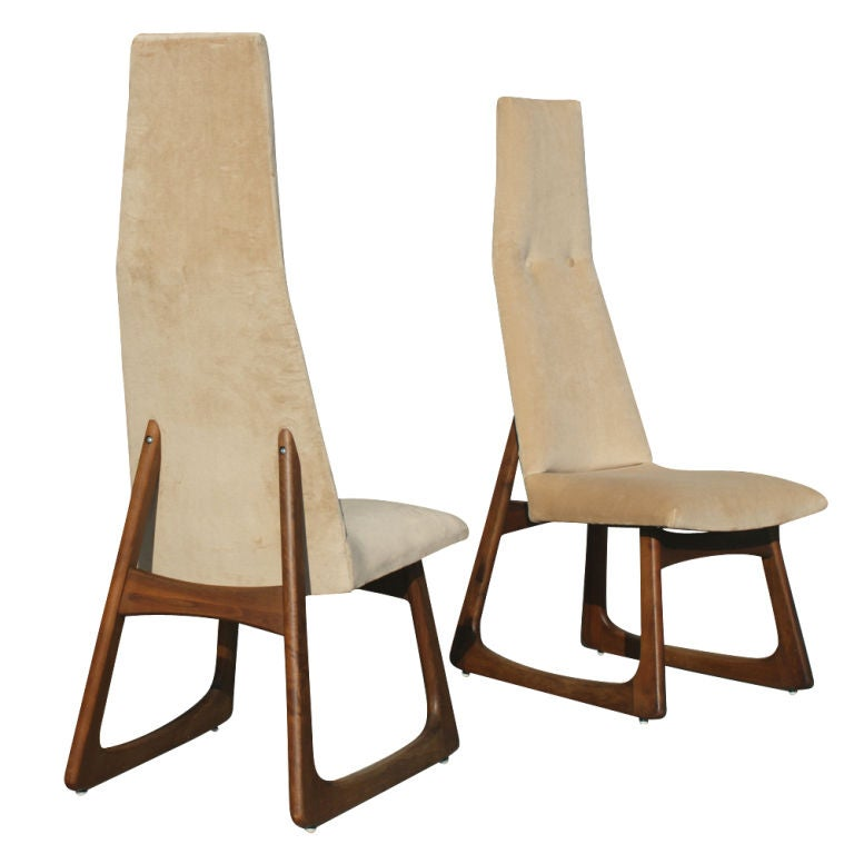 Pair Of Adrian Pearsall For Craft Associates High Back Chairs image 3