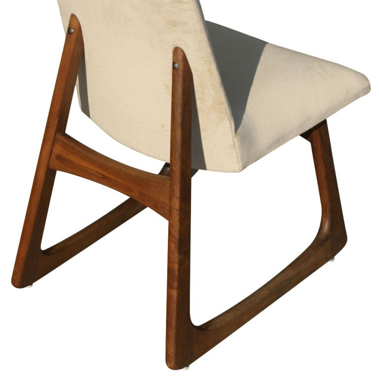 Pair Of Adrian Pearsall For Craft Associates High Back Chairs image 6