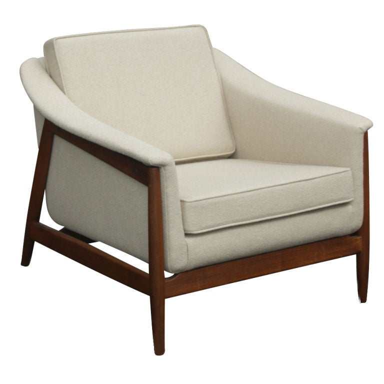 Mid Century Dux Scandinavian Teak Lounge Chair At 1stdibs