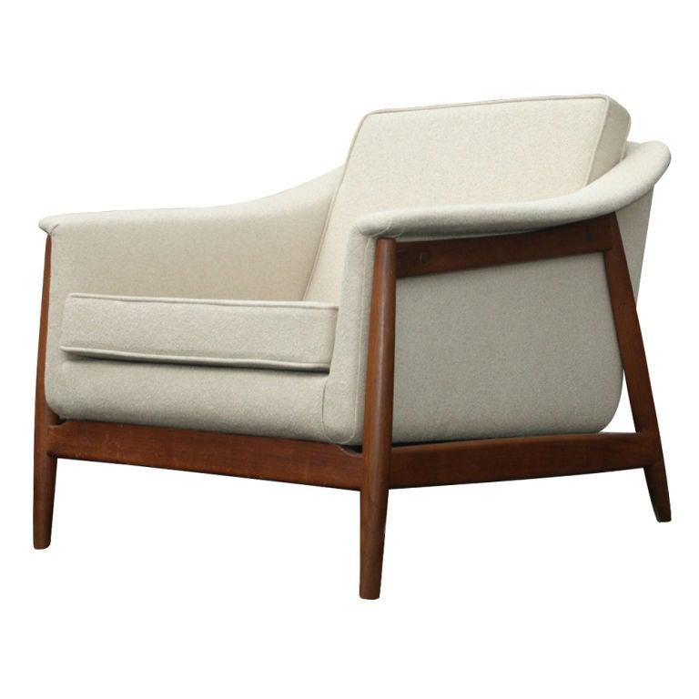 Mid Century Dux Scandinavian Teak Lounge Chair at 1stdibs