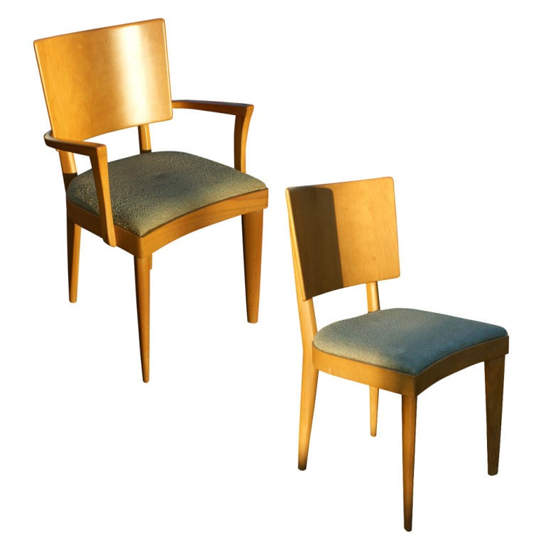 Set Of Eight Heywood Wakefield Dining Chairs 1