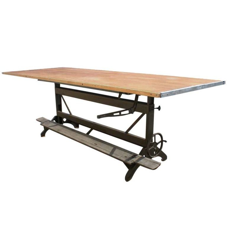Superieur Industrial Age Large Hamilton Drafting Table For Sale